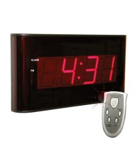 ป้ายแสดงเวลา นาฬิกา ขนาดใหญ่ Wall Clock ขนาด 15นิ้ว X 7นิ้ว รุ่น 810010