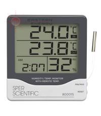 เครื่องวัดอุณหภูมิ 2จุด ภายใน/ภายนอก และความชื้น Indoor/Outdoor Thermometer รุ่น 800015