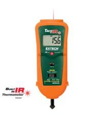 เครื่องวัดรอบแบบสัมผัส แบบแสง พร้อม InfraRed Thermometer รุ่น RPM10