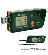 เครื่องบันทึกอุณหภูมิความชื้น USB Dual Temperature Datalogger EXTECH รุ่น TH30