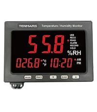 เครื่องบันทึกอุณหภูมิ ความชื้น Temperature / Humidity LED Monitor Tenmars รุ่น TM-185A