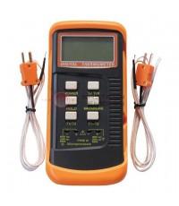 เครื่องวัดอุณหภูมิ เทอร์โมมิเตอร์ Thermometer สายโพรบ 2 แชนแนล รุ่น DT804A