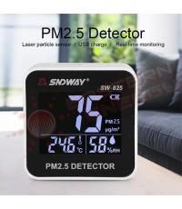 เครื่องวัดฝุ่น PM2.5 สำหรับวัดฝุ่นในอาคาร บ้าน รถยนต์ SNDWAY รุ่น SW-825