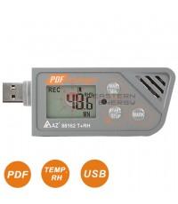 เครื่องบันทึกอุณหภูมิ/ความชื้น Temp.+RH USB Datalogger w/PDF report รุ่น 88162