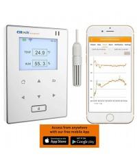 เครื่องบันทึกอุณหภูมิความชื้น WiFi Smart Wireless Data Logger รุ่น Elitech RCW-800