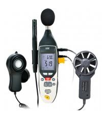 เครื่องวัดเสียง แสง ความเร็วลม อุณหภูมิความชื้น 5 in 1 Multi-Environment รุ่น DT-859B ***โปรโมชั่น