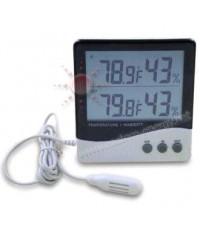 เครื่องวัดอุณหภูมิ 2 จุด และความชื้น 2 จุด ภายใน-ภายนอก รุ่น TH06OH