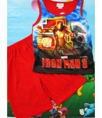เสื้อกล้ามพร้อมกางเกงผ้ามันลายการ์ตูนแอดเวนเจอร์ ไอรอนแมน iron man สินค้าลิขสิทธิ์