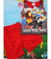 เสื้อกล้ามพร้อมกางเกงผ้ามันลายการ์ตูนแอดเวนเจอร์ ไอรอนแมน iron man ผ้าลื่นใส่สบายสินค้าลิขสิทธิ์