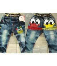 กางเกงยีนส์ ฟอก ขายาว ลาย โดนัลดั๊ก Donald duck