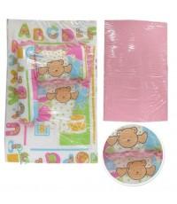 ที่นอนเด็กสีหวานลายหมีน้อยน่ารักเบาะข้างในเป็นฟองน้ำค่ะผ้าหุ้มเบาะก็ถอดซักได้มีหมอนหนุน1ใบและหมอนข้า