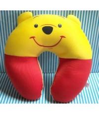 อุปกรณ์ แต่งรถ หมอนรองคอ รูปตัวยู (ด้านในเป็นเม็ดโฟม) Pooh พูห์