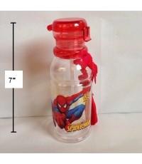 กระติกน้ำ สไปเดอร์แมน Spiderman มีหลอดในตัว ถอดสายได้ ไซด์เล็ก ขนาดสูง 7 นิ้ว