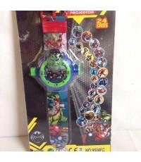 นาฬิกา Digital ส่องเลเซอร์รูป อเวนเจอร์ (Avengers) ฮักค์ Hulk ได้ 24 รูปค่ะ