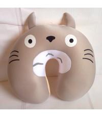 ลิขสิทธิ์แท้ หมอนรองคอ รูปตัวยู (ด้านในเป็นเม็ดโฟม) Totoro โตโตโร่