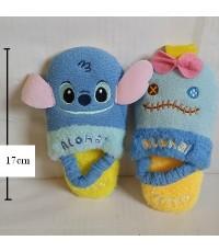 รองเท้าอยู่บ้าน ไซด์เล็ก สำหรับเด็กเล็ก ขนาดยาว 17 cm ลาย สติช Stitch