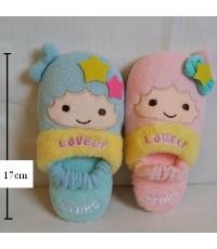 รองเท้าอยู่บ้าน little twin stars (Lala Kiki) ลาล่า กีกิ ไซด์เล็ก สำหรับเด็กเล็ก ขนาดยาว 17 cm