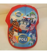 หมวกแก๊ป ลาย โรโบคาร์ Robocar Poli ขนาดรอบหมวก 22 นิ้ว