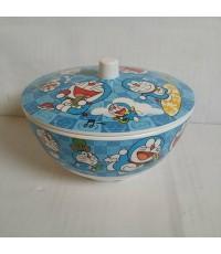 ชุด ชามพร้อมฝาปิด เมลามีน ลาย โดราเอม่อน Doraemon ขนาด ชาม ขนาดสูง 3 เส้นผ่าศูนย์กลาง 6 นิ้ว