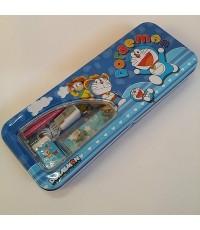 set เครื่องเขียน โดราเอม่อน Doraemon มีกล่องดินสอเหล็กขนาด 8*3นิ้ว พร้อม ไม้บรรทัด ยางลบ กบเหลา ดินส