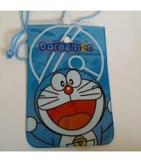 ซองพลาสติก กันน้ำ พร้อมสายคล้องคอ ลาย โดเรม่อน (Doraemon)