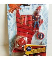 ถุงมือ พร้อม ที่ยิงจานร่อน ลาย สไปเดอร์แมน Spiderman (มีไฟ มีเสียง)
