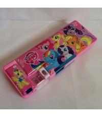 กล่องดินสอแม่เหล็กเปิดได้ 2 ด้าน มีเหลากบในตัว ม้าน้อย โพนี่ (My Little Pony)