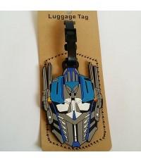Tagging ป้ายชื่อ ติดกระเป๋า ซีรีโคน ลาย ทรานสฟอร์มเมอร์ (Transformer)