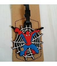 Tagging ป้ายชื่อ ติดกระเป๋านักเรียน กระเป๋าเดินทาง ซีรีโคน ลาย สไปเดอร์แมน(Spiderman)