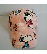 หมวกแก๊ป สนู๊ปปี้ SNoopy ด้านหลัง ขยายได้นิดหน่อยค่ะ ขนาดรอบหมวก 23 นิ้ว สำหรับเด็กโต ผู้ใหญ่ใส่ได้ค