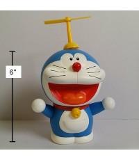 กระปุก ออมสิน ลาย โดเรม่อน Doraemon (เนื้อดี) ขนาด สูงเฉพาะตัว 6 นิ้ว