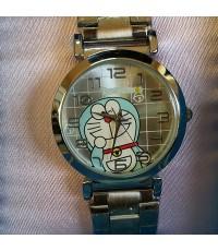 นาฬิกาข้อมือ ชนิดเข็ม สายเหล็ก ลาย โดเรม่อน (Doraemon)