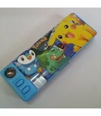 กล่องดินสอแม่เหล็กเปิดได้ 2 ด้าน มีเหลากบในตัว ลาย ปีกาจู โปเกม่อน Pokemon