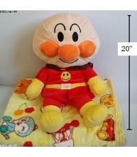 หมอนผ้าห่ม (แยกชิ้น) อันปังแมน anpanman ขนาดหมอน สูง 20 นิ้ว (ขนาดผ้าห่ม 3.5 ฟุต)
