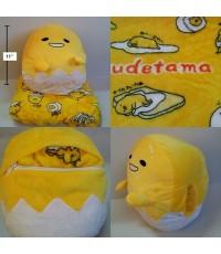 หอมอนซุก หมอนผ้าห่ม (แยกชิ้น) ลาย กุเดทามะ Gudetama ไข่แดงขี้เกียจ ผ้าห่มด้านในขนาด 3.5 ฟุต