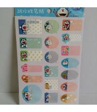 สติ๊กเกอร์ เขียนชื่อ (Name Sticker) สำหรับเขียนชื่อติดตามอุปกรณ์ต่าง ๆ ลาย โดราเอม่อน Doraemon