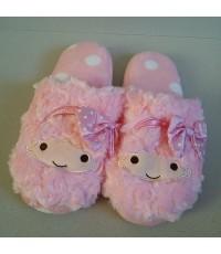 รองเท้าอยู่บ้าน little twin stars (Lala Kiki) ลาล่า กีกิ ไซด์ใหญ่ สำหรับผู้ใหญ่ ขนาดยาว 24.5 cm (Siz