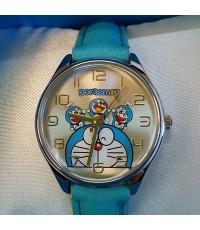 นาฬิกาเข็ม สายหนัง ลาย โดเรม่อน (Doraemon)