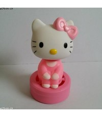 น้ำหอม ตุ๊กตาหัวโยก ด้านในเป็นสปริง ไว้ติดหน้ารถ หรือ ตกแต่ง ได้คะ ลาย คิตตี้ Kitty ขนาดสูง 4 นิ้ว