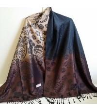 ผ้าคลุมไหล่ ผ้าไหม ขนาด 70x180cm