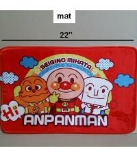 พรมเช็ดเท้า สี่เหลี่ยม ลาย อันปังแมน anpanman ขนาด 22x15 นิ้ว
