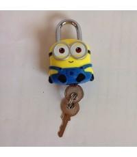 แม่กุญแจ พร้อมลูกกุญแจ สำหรับติด กระเป๋า กระเป๋าเดินทาง ตู้ หรือ อื่น ๆ ลาย มิเนียน Minion (Despicab