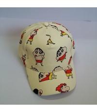 หมวกแก๊ป ชินจัง shinchan ด้านหลัง ขยายได้นิดหน่อยค่ะ ขนาดรอบหมวก 23 นิ้ว สำหรับเด็กโต ผู้ใหญ่ใส่ได้ค