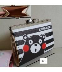 กระเป๋าเหรียญ ลาย คุมาม่อน Kumamon ขนาด 4x3.5 นิ้ว