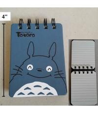 สมุดโน๊ต ลาย โตโตโร่ (Totoro) ขนาด 3x4 นิ้ว