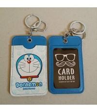 พวงกุญแจ ป้ายชื่อ ใส่บัตร ใส่ได้ 2 ด้าน ลาย โดเรม่อน Doraemon (รูปที่ถ่ายเป็น รูปด้านหน้า ด้านหลัง)