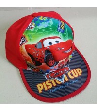 หมวกแก๊ป car Mcqueen คาร์ แม็คควีน เด็กโต ผู้ใหญ่ ความยาวรอบหมวก 23cm ได้หลังปรับระดับได้ประมาณ 1-2