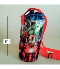 ถุงใส่กระติกน้ำ ขวดน้ำ มีสายสะพาย ด้านในเป็นฟรอย ลาย Avenger