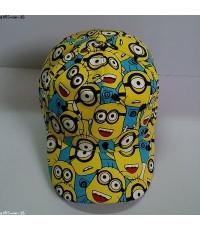 หมวกแก๊ป มิเนียน Minion (Despicable Me) ด้านหลัง ขยายได้นิดหน่อยค่ะ ขนาดรอบหมวก 23 นิ้ว สำหรับเด็กโต