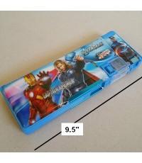 กล่องดินสอแม่เหล็กเปิดได้ 2 ด้าน มีเหลากบในตัว ลาย อเวนเจอร์ Avengers ขนาด 9.5x3.5 นิ้ว